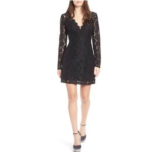 WAYF Say It Out Loud Lace Long Sleeve Dress